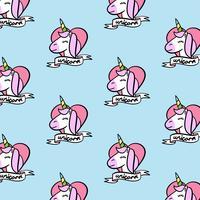 Unicorno del fumetto senza cuciture