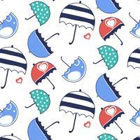 Modello ombrello colorato cartone animato
