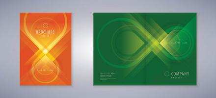 Green And Red Infinity Symbol Book Cover Set vector