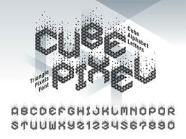 Cube Pixel Alphabet Letters and numbers