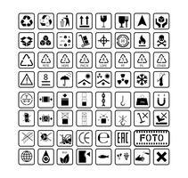 set of cargo transportation warehouse icons