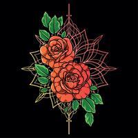 Röd ros blomma vektor bakgrund