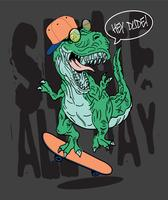 Illustration de dinosaure pour impression de t-shirt