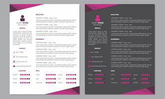 Curriculum Vitae Resume Clean and Dark Pink Color