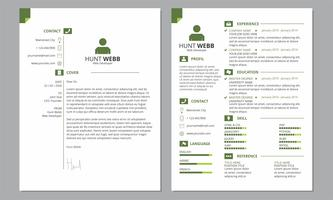 CV Resume Cover Clean Green Color