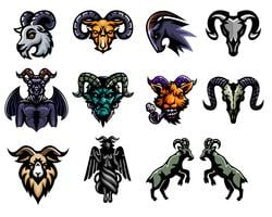 Set of Goat Sticker design