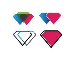 Diamant icon set