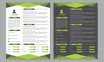 Curriculum Vitae Resume Clean and Dark Green Color Template