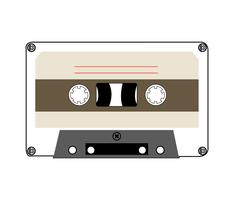 Vintage musical tape on white vector