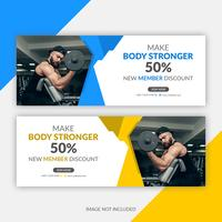 Gym Facebook Cover Template vector