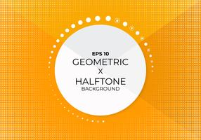 Geometric cut background modern style halftone design  vector