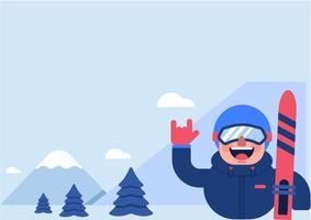 Ski In Mountain