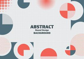 Abstract round design background modern shape design and halftones