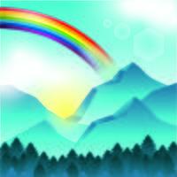 Um lindo arco-íris