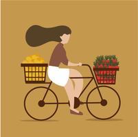 Une fille sur le vélo