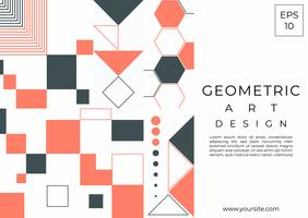 Geometric art design modern element shapes