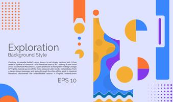 Exploration poster background  vector