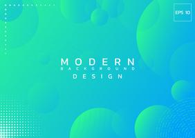Modern design background circle abstract style colorful backdrop with halftone.