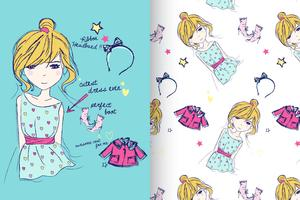 Clothing with pattern set vector