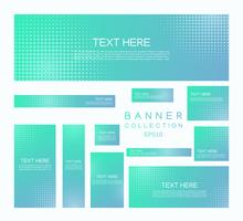 Modern banners minimal halftone style colorful gradient
