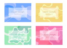 Liquid background design  vector