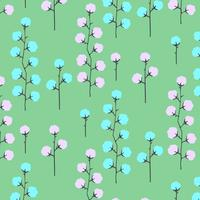 Hand drawn simple bright floral pattern