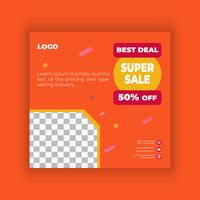 Big sale social media post design template