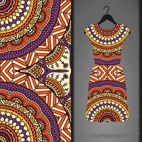 Seamless pattern with dress
