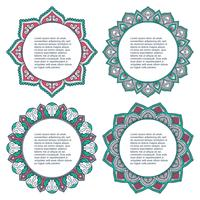 Mandala. Round Ornament Set