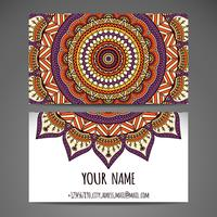 Hand Drawn Mandala Business Card  vector