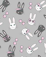 Chic Rabbit Pattern  vector