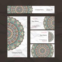 Business Cards and Identity set. Vintage decorative elements.