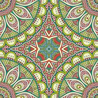 Seamless pattern in ethnic style. Vintage decorative elements.