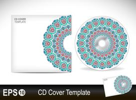 CD cover design template in ethnic style