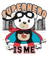 Superhero Is Me Bear vector