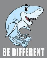 Tiburón dibujado a mano vector
