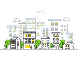 Modern illustration of City  vector
