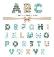 Christmas festive font.