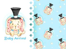 Its a boy pattern with rabbit