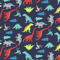 Hand drawn bold shape dinosaur pattern