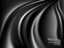 Texture satinée de soie noire de luxe lisse