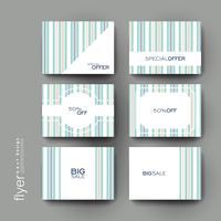 Set van abstracte promotionele tags
