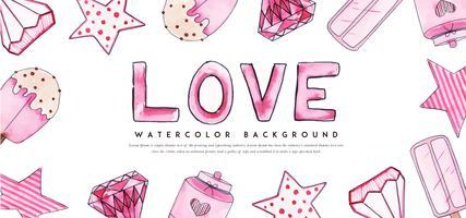 Love Valentine Banner vector