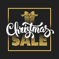 Cartel de venta de navidad