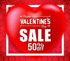 Valentines Sale Banner With Hearts Promotional Banner