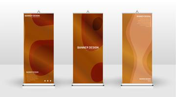 Vertical banner template wave design