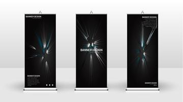 Black Vertical banner template