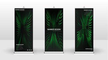 Vertical green banner template design