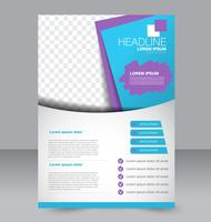 Bright blue and purple abstract simple brochure flyer template