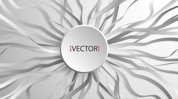 Circle paper banners with drop shadow and wave tape vector